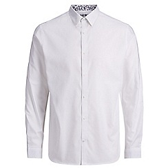 Jack & Jones - White 'Russel' long sleeve shirt