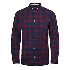 Jack & Jones - Wine red'Lawrence' checked shirt