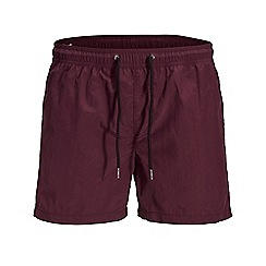 Jack & Jones - Wine 'Sunset' swim shorts