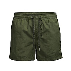 Jack & Jones - Dark green 'Sunset' swim shorts