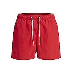 Jack & Jones - Red 'Sunset' bind swim shorts