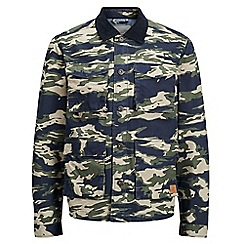 Jack & Jones - Dark green camouflage 'Mike' jacket