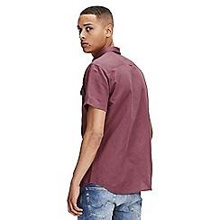Jack & Jones - Mauve shorts sleeved 'Spring' shirt