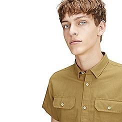 Jack & Jones - Mustard shorts sleeved 'Spring' shirt
