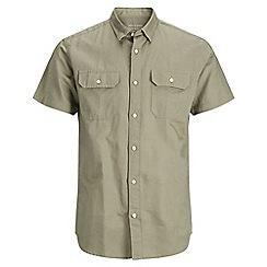 Jack & Jones - Grey shorts sleeved 'Spring' shirt