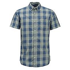 Jack & Jones - Light green checked 'Boise' shorts sleeved shirt