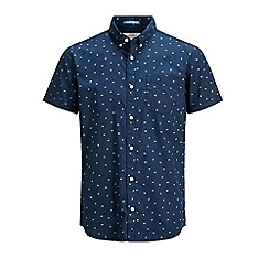 Jack & Jones - Navy short sleeved 'Cambridge' shirt