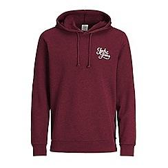 Jack & Jones - Maroon 'Galions' hoodie