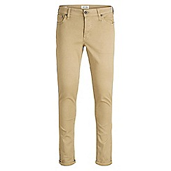 Jack & Jones - Tan 'Glenn 696' slim fit chinos