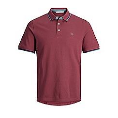 Jack & Jones - Maroon 'Paulo's play' polo shirt