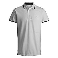 Jack & Jones - Light grey 'Paulos play' polo shirt