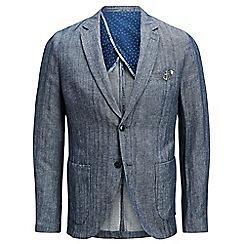 Jack & Jones - Navy 'Chambray' blazer