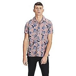 Jack & Jones - Pink 'Emil' short sleeved patterned shirt