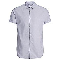 Jack & Jones - Blue 'Summer stripe' short sleeved shirt