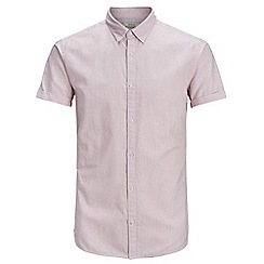 Jack & Jones - Lilac 'Summer stripe' short sleeved shirt