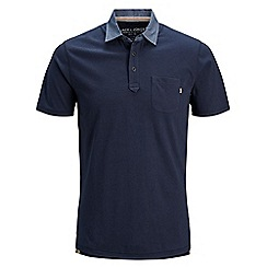 Jack & Jones - Navy 'Darren' polo shirt