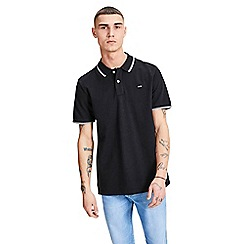 Jack & Jones - Black 'Contrast' polo shirt