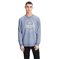 Jack & Jones - Navy 'Breeze' sweat shirt