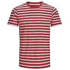 Jack & Jones - Red 'Stripe' t-shirt