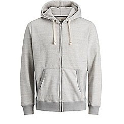 Jack & Jones - Grey 'Space' zip up hood