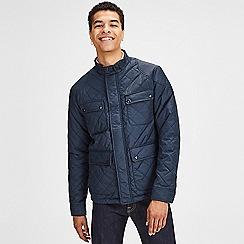 Jack & Jones - Navy 'Stone' quilted jacket