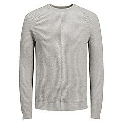Jack & Jones - Light grey 'New Pannel' knit jumper