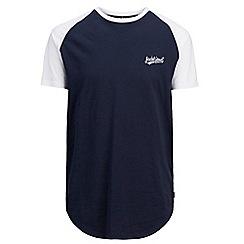 Jack & Jones - Navy contrast sleeve t-shirt