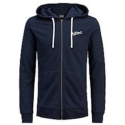 Jack & Jones - Navy 'Hobbs' zip up hoodie