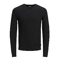 Jack & Jones - Black 'Structure' knit
