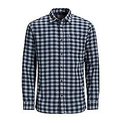 Jack & Jones - Navy checked 'Jacob' shirt