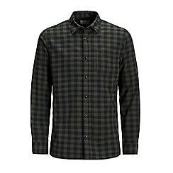 Jack & Jones - Dark green checked 'Jacob' shirt