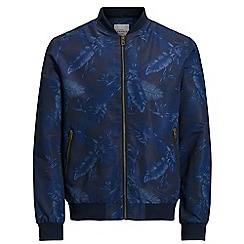 Jack & Jones - Navy printed 'Pacific' bomber jacket