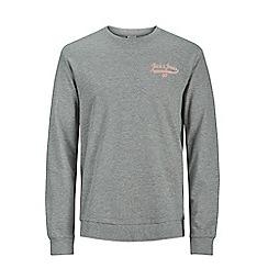 Jack & Jones - Grey 'Galions' crew neck sweatshirt