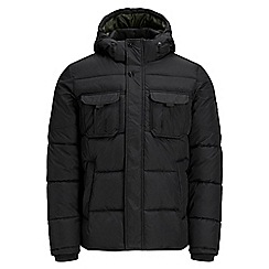 Jack & Jones - Black 'Will' puffer jacket