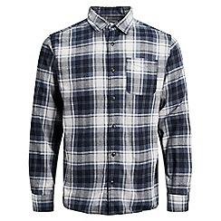 Jack & Jones - Navy 'Benjamin' checked shirt