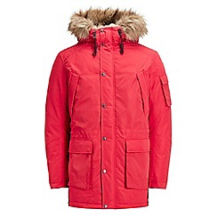 Jack & Jones - Red 'Latte' parka jacket