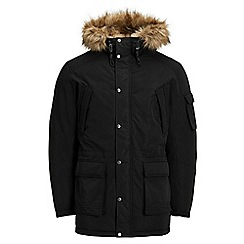 Jack & Jones - Black 'Latte' parka jacket