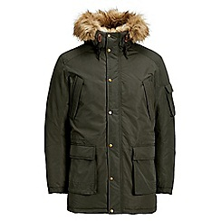 Jack & Jones - Green 'Latte' parka jacket