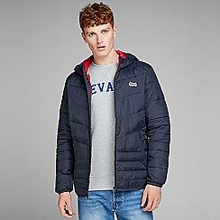 Jack & Jones - Navy 'Bend' light puffer jacket