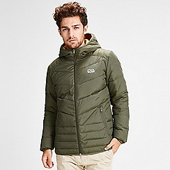 Jack & Jones - Dark green 'Bend' light puffer jacket