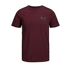 Jack & Jones - Burgundy 'Autumn' t-shirt