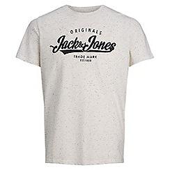 Jack & Jones - Ivory 'Autumn logo' t-shirt