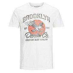 Jack & Jones - Ivory 'Slub' t-shirt