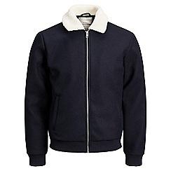 Jack & Jones - Navy 'Freddy' bomber jacket