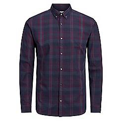 Jack & Jones - Burgundy 'Nathan' checked shirt