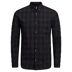 Jack & Jones - Dark grey 'Nathan' checked shirt