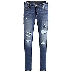 Jack & Jones - Blue 'Liam 741' skinny fit jeans