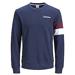 Jack & Jones - Navy 'Winks' sweatshirt