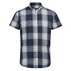Jack & Jones - Navy 'Barney' short sleeved shirt