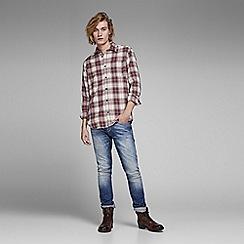 Jack & Jones - Red 'Steven' checked shirt
